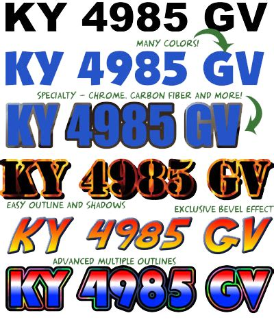 custom boat registration numbers boatdecals biz - Boat Registration Numbers Images