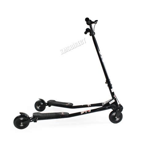 scooter swing foxhunter kids 3 wheel swing tri slider motion winged push