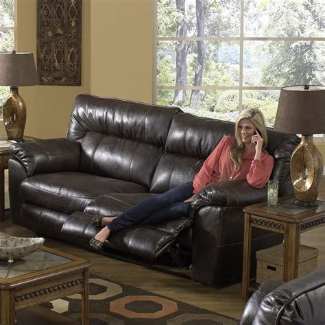 nolan reclining sofa catnapper nolan leather reclining sofa in godiva