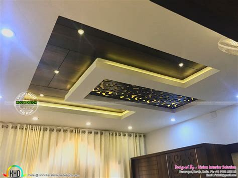 Home Interior Design Kerala false ceiling for master bedroom furnished master bedroom