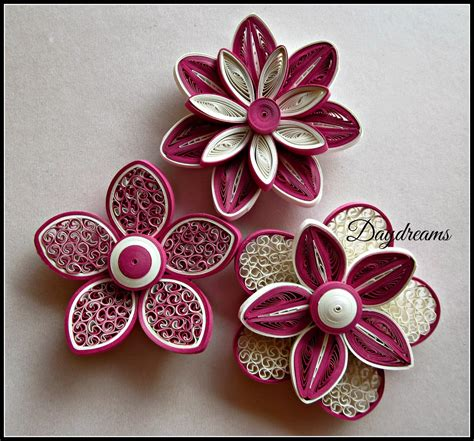 8 Floral And Lovely Projects by Daydreams For My For Quilled Flowers Quilling