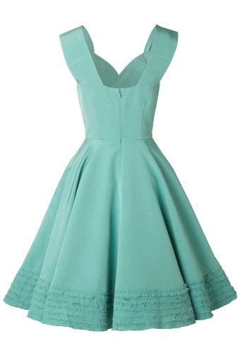 50s swing dress 50s deb dress in turquoise