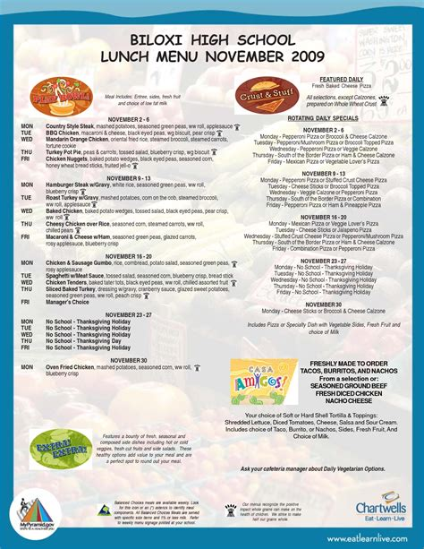school lunch menu template 4 school menu template procedure template sle