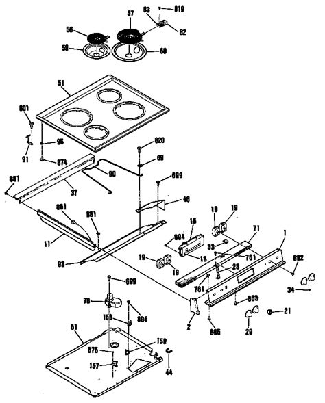 ge electric range parts diagram general electric jsp26gp4ad electric range timer stove