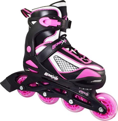 Inline Skates pink black lenexa venus adjustable indoor outdoor inline roller skates ebay