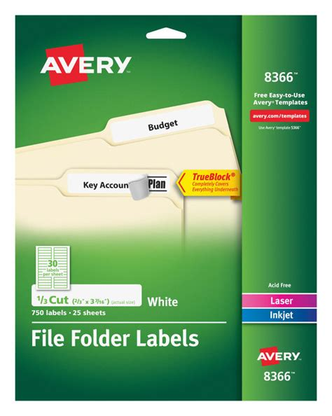 Avery 8366 Label Template Download
