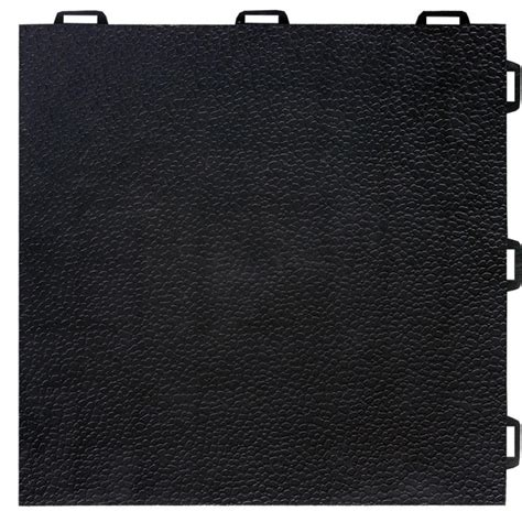 Interlocking Basement Floor Tiles Greatmats Staylock Orange Peel Top Black 12 In X 12 In X 0 56 In Pvc Plastic Interlocking