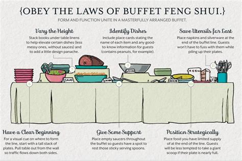 wedding planning setting the buffet table letterpress