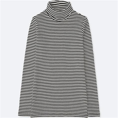 Striped Ribbed Turtleneck ribbed striped turtleneck sleeve t uniqlo us