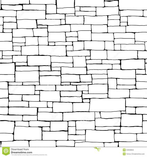 seamless brick wall background with ink stock