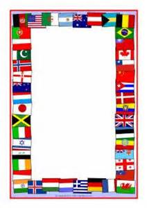 Flags of the world a4 page borders sb5827 sparklebox th 232 me