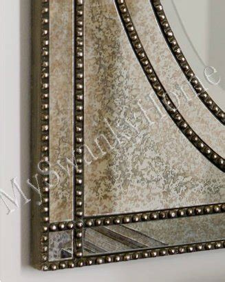 beaded frame mirror this generous scaled beveled mirror beaded venetian frameless vanity mirror glass frame