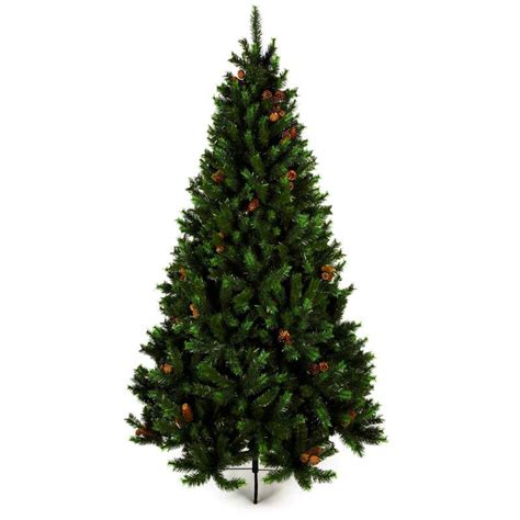 white globe tree lights 6ft fir tree with pine cones with white globe 50 string lights