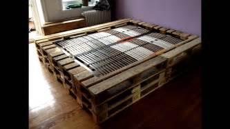 bett aus europaletten bauen anleitung doppelbett aus europaletten