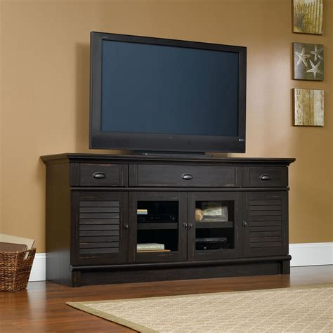 harbor view  tv stand antique brown