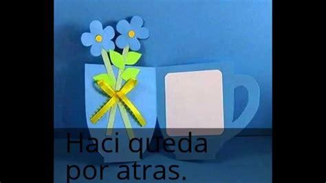 tarjetas en forma de taza manualidades reciclables tarjeta taza 10 de mayo youtube