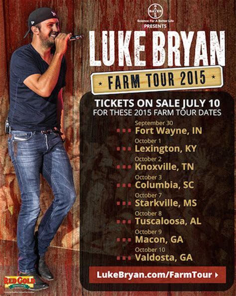 luke bryan farm tour luke bryan maps seventh annual farm tour musicrow