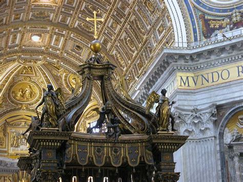 baldacchino di s pietro photos of rome basilica in vatican part