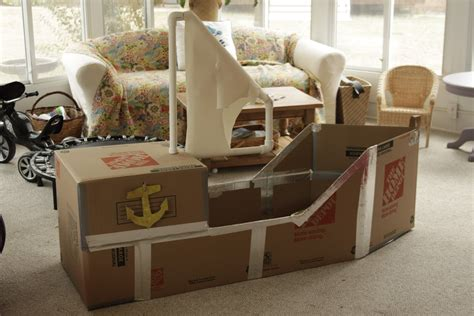 boat in a box diy cardboard pirate ship amanda medlin