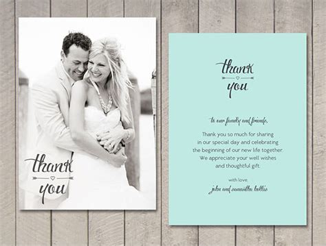 photo wedding thank you cards templates 21 wedding thank you cards free printable psd eps