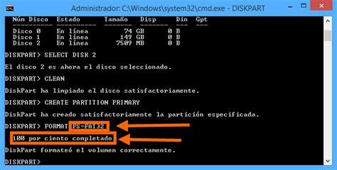 diskpart format ms dos m 233 todo para reparar una memoria usb usando diskpart