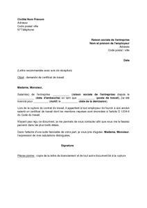 Demand Letter Coa application letter sle modele de lettre demande de