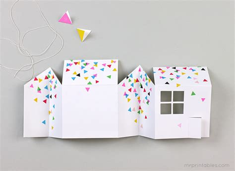 Pop Up House Card Template by Diy Invitaci 243 N De Cumplea 241 Os Original Para Tu Pr 243 Xima