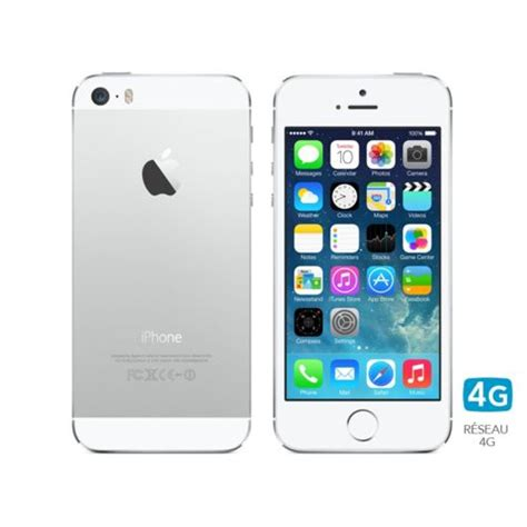 apple iphone 5s 16 go blanc argent pas cher achat vente smartphone classique rueducommerce