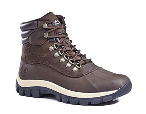 mens winter rubber boots kingshow mens m0705 water proof leather rubber sole winter