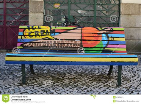 ice cream bench ice cream bench editorial stock photo image 47208513