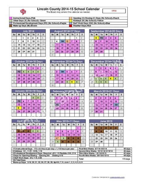 lincoln county school district calendar lincoln county nc school calendar printable calendar 2017