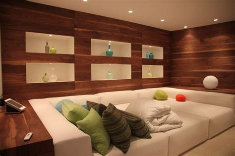 comfy tv room contemporary basement vancouver by