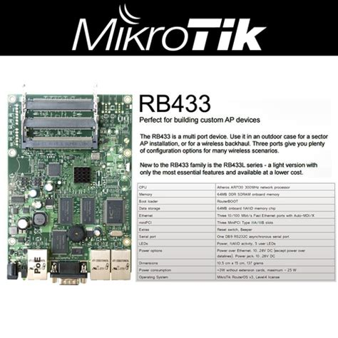 Ar7130 Cpu Mikrotik Rb433 mikrotik routerboard 433 rb433 for building custom wifi access point