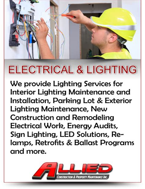 electrical lighting installation company electrical and lighting maintenance installation and