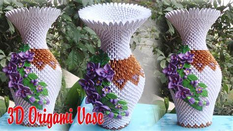 3d Origami Vase Pattern - 3d origami vase v2 v7 paper vase handmade decoration