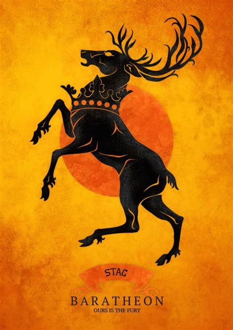 baratheon house house baratheon a song of ice and fire fan art 32439881 fanpop