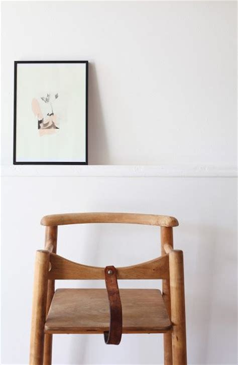 Toddler Chair With Straps by Wood Highchair With Leather Leg Baby