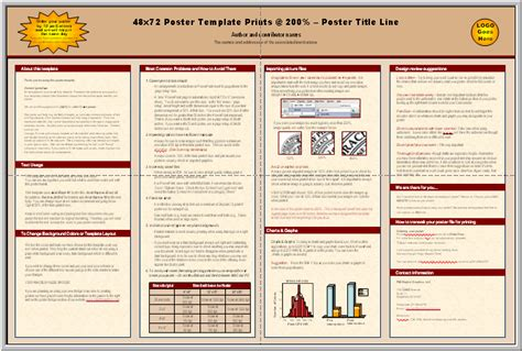 powerpoint a1 poster template academic poster template powerpoint template design