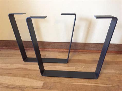 metal coffee table legs w clearcoat steel flatbar