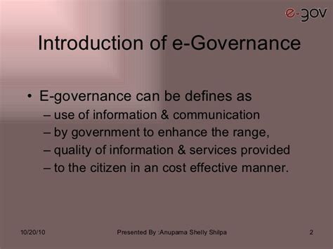 E Governance Essay In by E Governance Research Papers