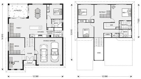 Split Level Plan by Elevated House Floor Plans Architectural Designs