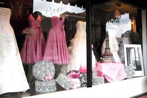 Curtain Design Ideas paris pink white bridal dress shop window paris decor