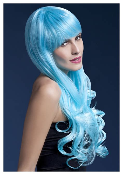 Wig Blue styleable fever emily blue wig