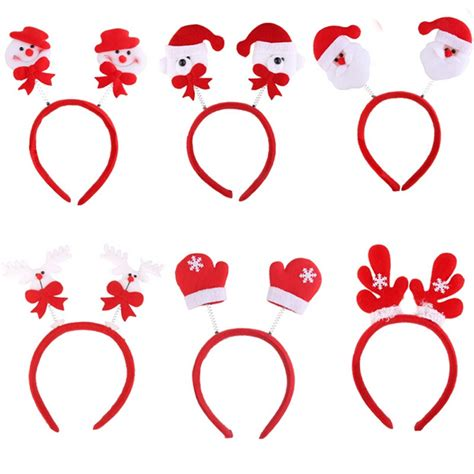 Amazing Christmas Decoration Stores #3: 1pc-Lovely-Snowman-Santa-Claus-Bear-Elk-Pattern-Head-Fancy-Bands-Hair-Hoop-Christmas-Decoration-Supplies.jpg