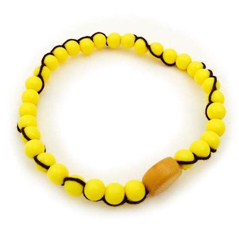 yellow small bead bracelet