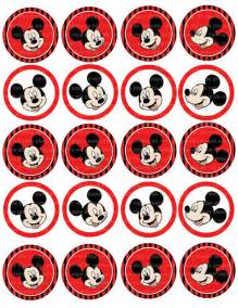 instant 193 nea dl mickey mouse etiquetas toppers cupcake