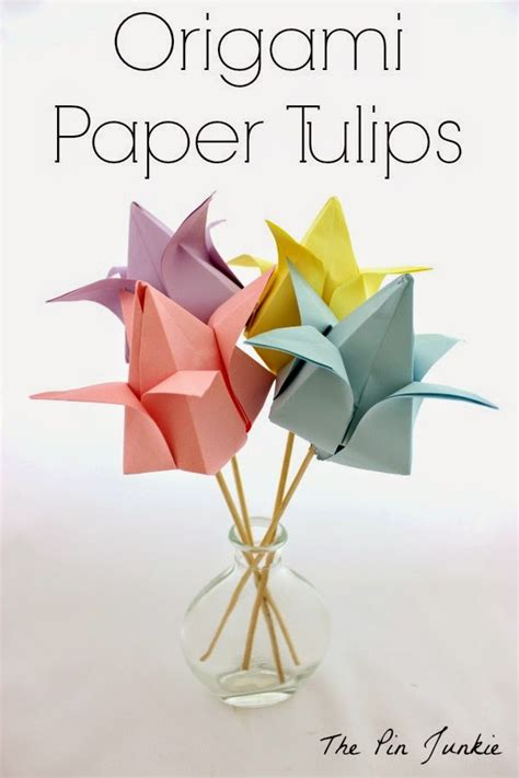 How To Make An Origami Tulip - origami paper tulips