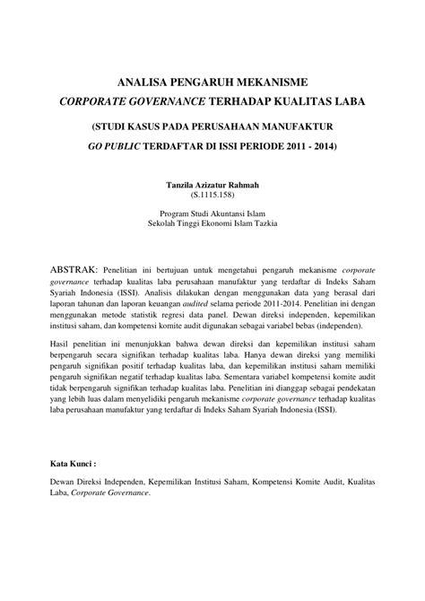 pdf analisa pengaruh mekanisme corporate governance