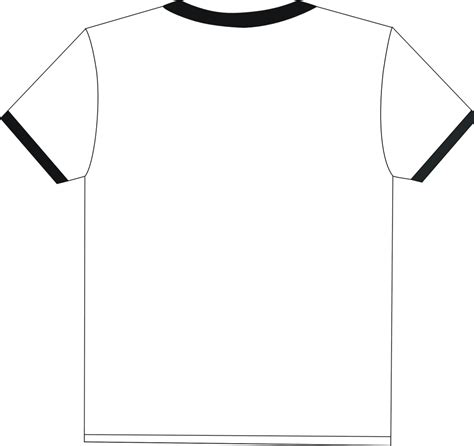 blank shirt outline clipart best