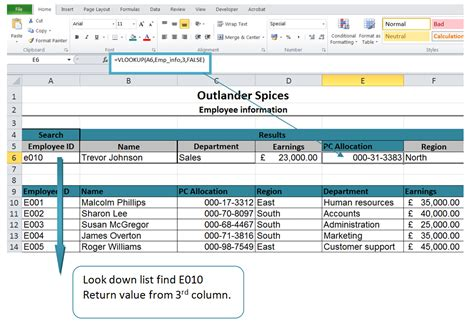 Lookup In Excel Excel Vlookup To Lookup Values In A List Imagine